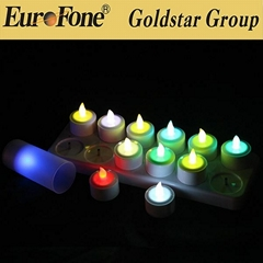 led rechargeable candle light with remote control