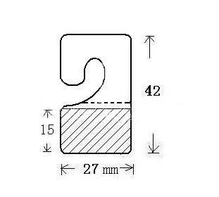 J型不干膠挂鉤貼 2