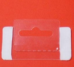 PVC/PET雙邊帶膠透明挂扣