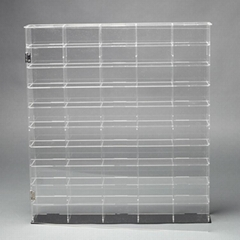 Clear plastic display storage boxes