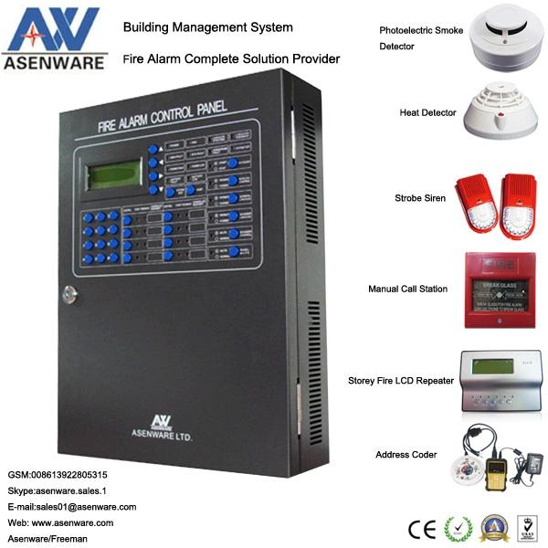 Chinese Asenware Addressable Fire Alarm Panel 1