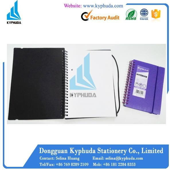 Hard plastic cover spiral notebook 4