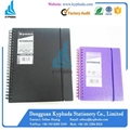 Hard plastic cover spiral notebook 5