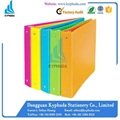 Plastic 1 inch O 3 ring binder folder 3
