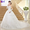 The Bride Wedding Dress 2015 New Arrival Long Trailing Strapless Lace With Backl 2