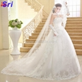 The Bride Wedding Dress 2015 New Arrival Long Trailing Strapless Lace With Backl 3