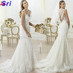 Fashion Wedding Dress Warmly Welcome White Wedding Dress 2015 Lace Hollow-out Ba