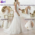 Fashion Wedding Dress Warmly Welcome White Wedding Dress 2015 Lace Hollow-out Ba 2