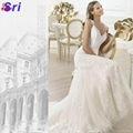 Fashion Wedding Dress Warmly Welcome White Wedding Dress 2015 Lace Hollow-out Ba 4