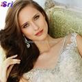 Dreamy Design 2015 Wedding Dresses Lace Mermaid Bridal Gowns V Neck Tank See Thr 3