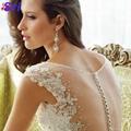 Dreamy Design 2015 Wedding Dresses Lace Mermaid Bridal Gowns V Neck Tank See Thr 4