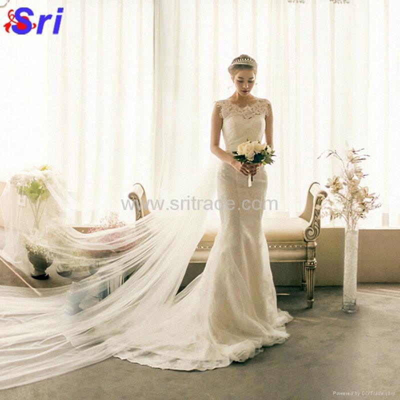 The Bride Wedding Dress Formal Dresses Spring Fish Tail Wedding Dress Lace Beach 3