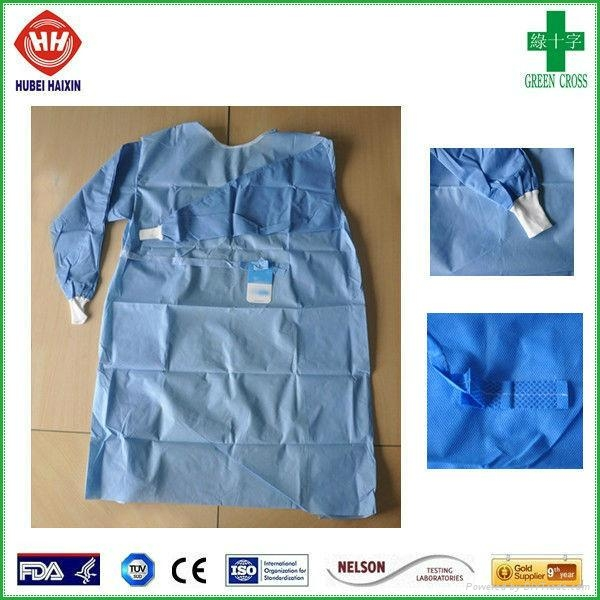 Disposable non woven SMS isolation gown wholesale 3