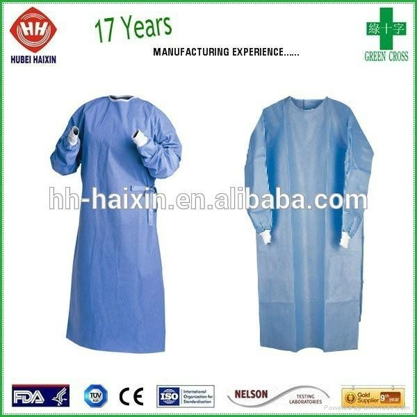 Disposable non woven SMS isolation gown wholesale 2
