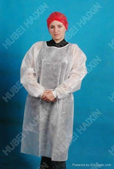 PP+PE Isolation Gown(white) 1
