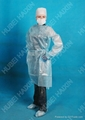 disposable non woven PE Isolation Gown(blue) waterproof 1