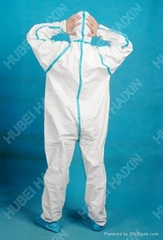 DIsposable non woven high quality TYPE 4 Coverall (Back View)