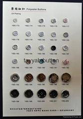UV plating plastic button