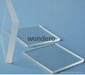 polished transparent  fused silica quartz  plate