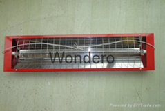 Far Infrared carbon fiber quartz heating element with relector house as heater