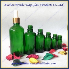 Green Glass Essential Oil Bottle