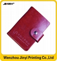 Pu leather business promotion card