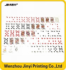 Custom 54 Cards Standard PVC Playing Card