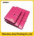 leather thin spiral golden stamping notebook 5