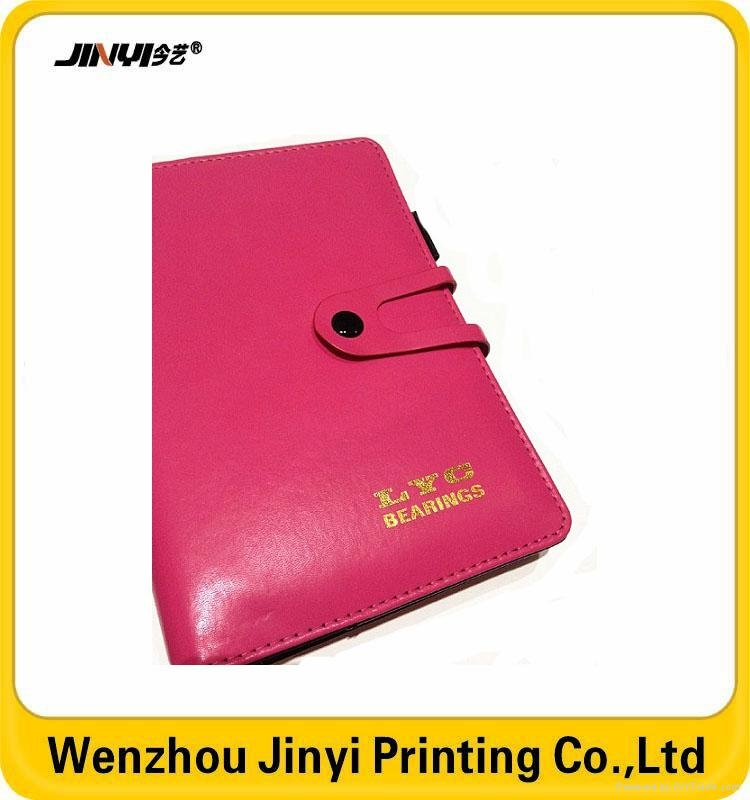 leather thin spiral golden stamping notebook 4