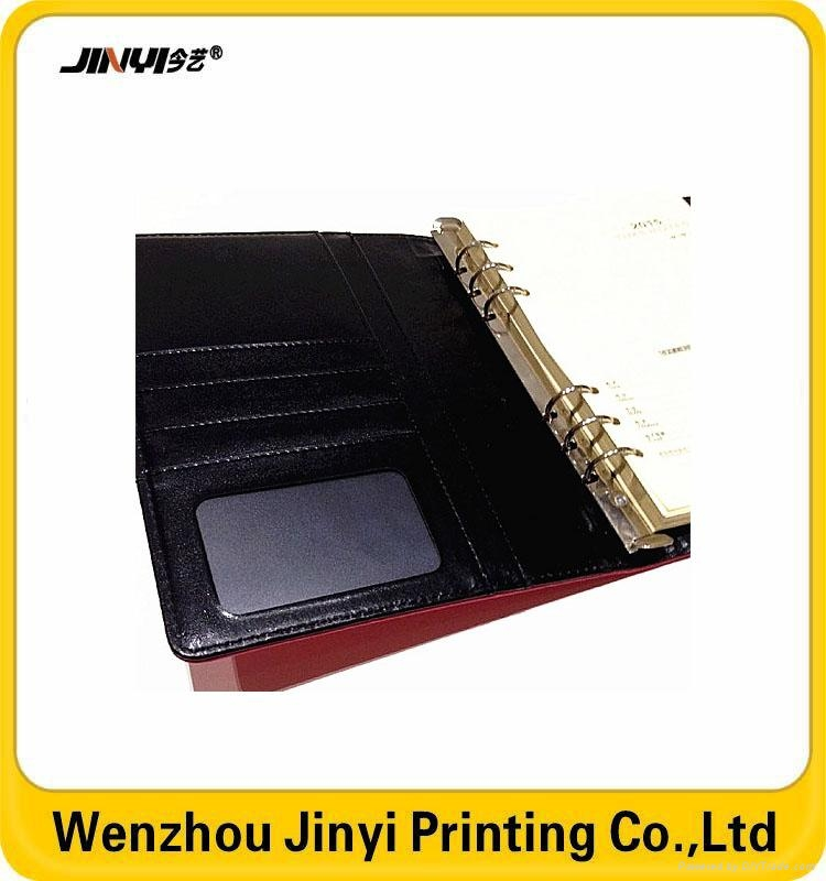 leather thin spiral golden stamping notebook 2