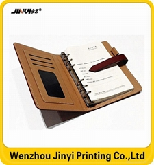 Factory manfacture leather office notebook