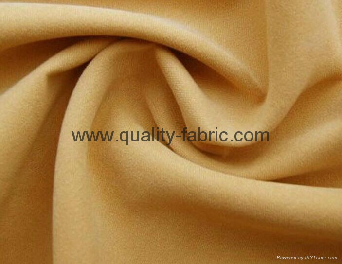 Twill brushed microfiber fabric 1