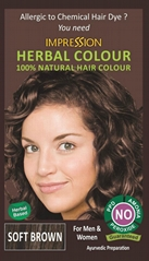 100% NATURAL HERBAL HAIR COLOUR - SOFT BROWN