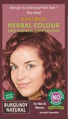 100% NATURAL HERBAL HAIR COLOUR - BURGUNDY NATURAL