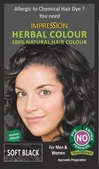 100% NATURAL HERBAL HAIR COLOUR - SOFT BLACK