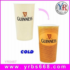 Custom Design Color Changing Plastic Mug for Promotion Gift