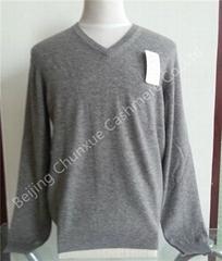 Men's V Neck Cashmere Pullover