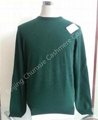 Men's Crew Neck Cashmere Pullover in Stock