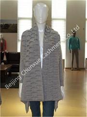 Fashion Women's Long Cashmere Cardigan