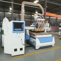Woodworking engraving machine straight row machining center