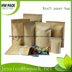 naturtal color kraft food paper bag