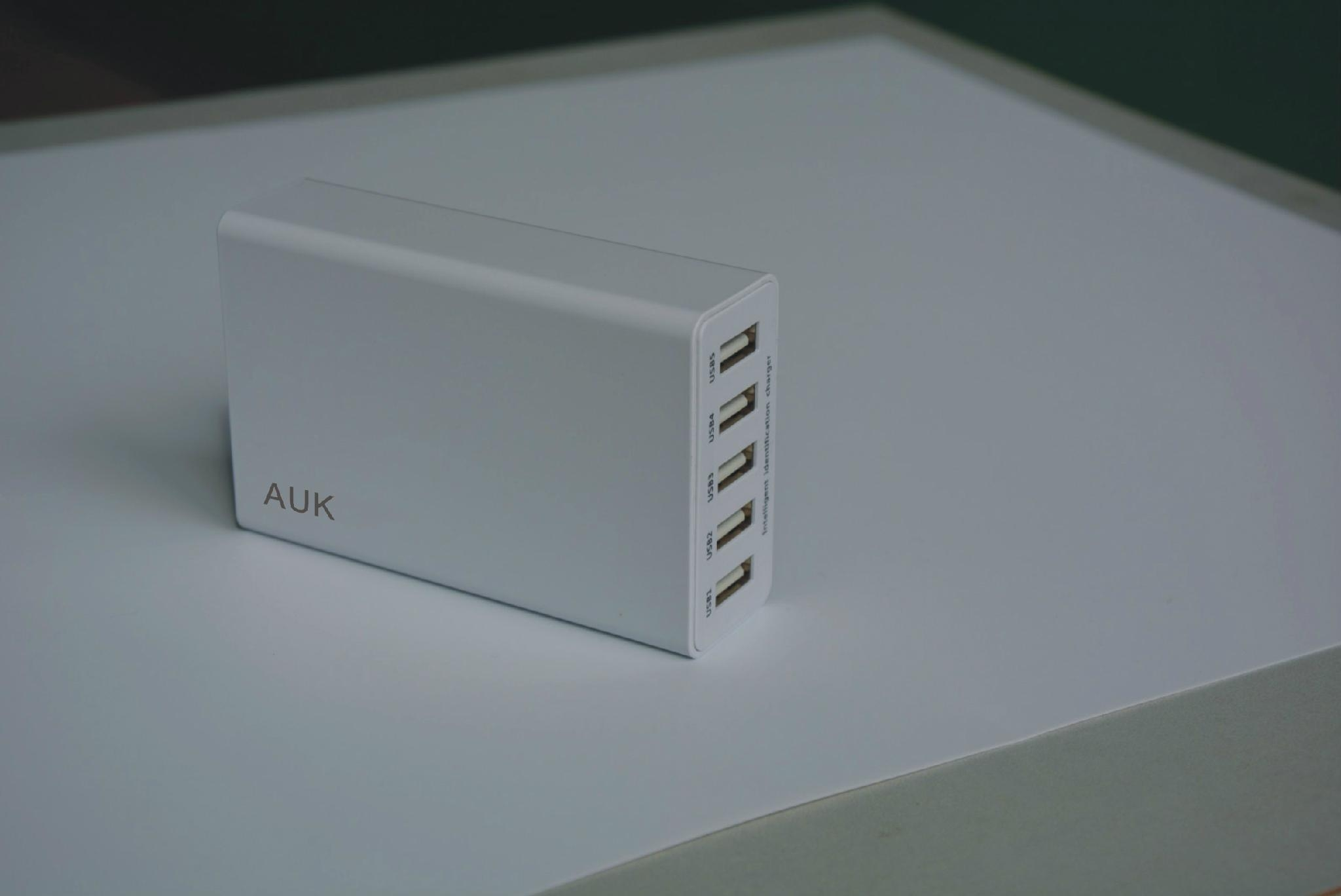 40w 8A 5Ports USB Travel Adapter Charger with smart IC 1