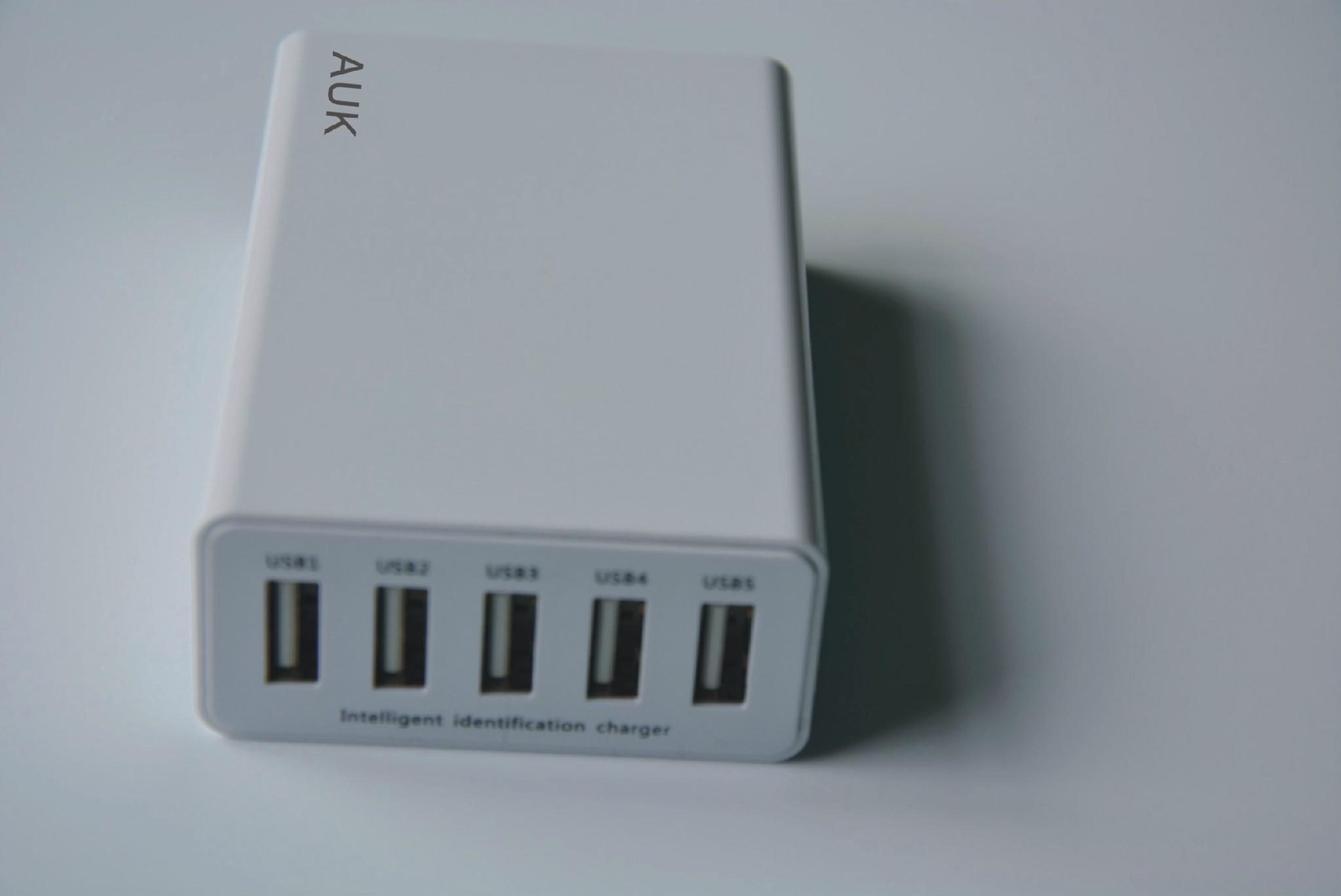 40w 8A 5Ports USB Travel Adapter Charger with smart IC 4