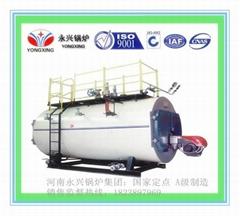 高效环保自动燃油气常压热水锅炉