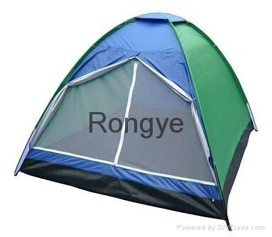 Si  er Coated Camping Tent 1