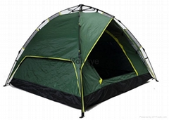 Hot sale 2-4 person strong army green automatic camping Tent
