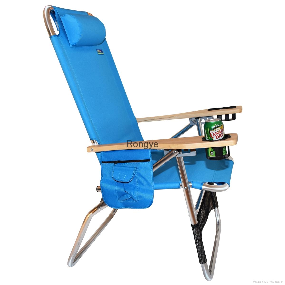 Big Papa 4 Position Beach Chair - Light Blue 2