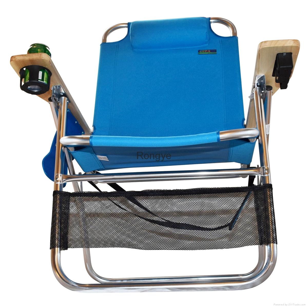 Big Papa 4 Position Beach Chair - Light Blue 5