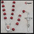 Wooden Rose Scented bead Rosary 1