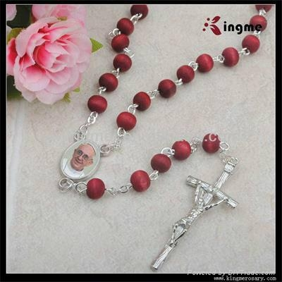 Wooden Rose Scented bead Rosary 2